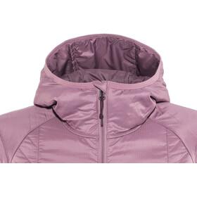 Icebreaker Helix LS Zip Hood Jacket Women Opal/Velvet/Jet Heather
